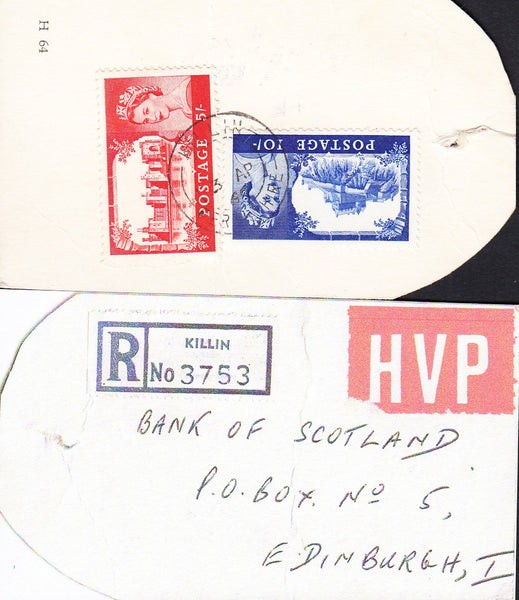 89857 - HIGH VALUE PACKET MAIL. 1969 parcel tag sent regis...