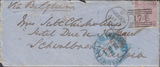 90106 - 1868 MAIL TO PRUSSIA. Envelope (rear flap missing)...