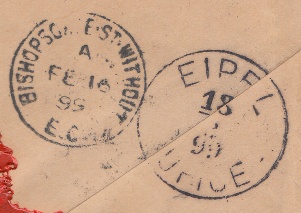 90131 - 1899 REGISTERED MAIL TO BOHEMIA, AUSTRIA. Envelope...