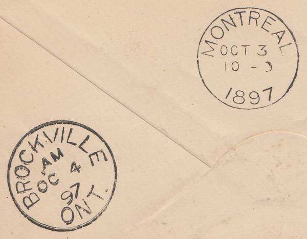 90154 - 1897 MAIL LIVERPOOL TO CANADA. 1897 envelope Liverpool to Canada with 1d lilac x ...
