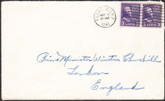 90262 - MAIL TO WINSTON CHURCHILL. 1941 envelope Flint USA...