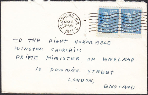 "90264 - MAIL TO WINSTON CHURCHILL. 1941 envelope USA ""To T..."