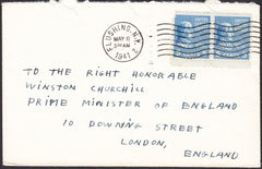 90264 - 1941 MAIL USA TO WINSTON CHURCHILL. Envelope USA