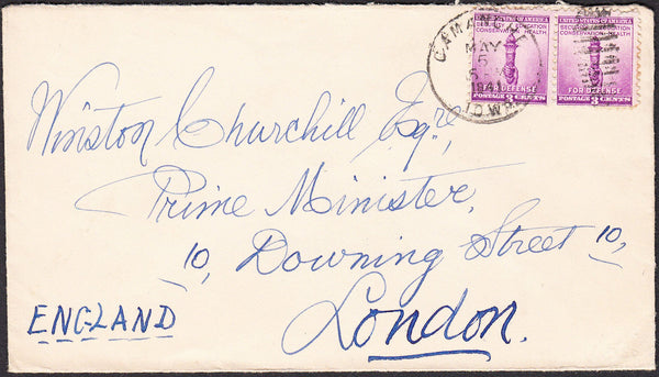 "90266 - MAIL TO WINSTON CHURCHILL. 1941 envelope USA to ""W..."