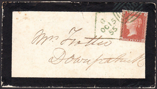 90412 - 1855 DUBLIN DIAMOND SPOON DIE 6 (RA68) IN GREEN ON COVER/PL.4 ...