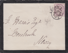 "90415 - CORK ""COWALL"" CANCELLATION. 1884 mourning envelope..."