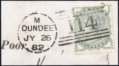 90573 - DUNDEE DOTTED CIRCLE (RA30)/½d PALE GREEN (SG165)....
