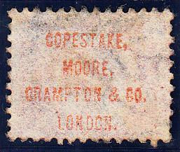 "90687 ""COPESTAKE, MOORE, CRAMPTON AND CO. LONDON."" UNDERPRINT IN RED/½d BANTAM PL.15 (SF) (SG48 Spec.PP27)."