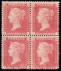 90754 - 1860 DIE TWO PLATE 64 MINT BLOCK OF FOUR (SG40) (S...