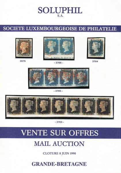 91046 - SOLUPHIL AUCTION CATALOGUES. Two small but fine au...