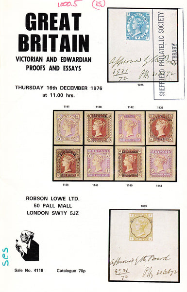 91374 - GREAT BRITAIN - VICTORIAN AND EDWARDIAN PROOFS and E...