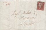 91440 - 1844 EDINBURGH MALTESE CROSS WITH SMALL CENTRE ON COVER...