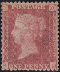 91715 - 1860 DIE 2 1D PL.64 (SG40)(SD) MINT EXAMPLE.