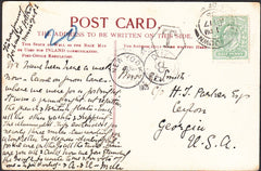 91727 - 1905 UNDERPAID MAIL ISLE OF WIGHT TO USA. Post card of Sando...