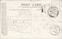 91733 - 1910 UNPAID MAIL. Post card used locally in Lon...
