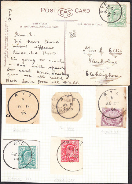 92100 - SUSSEX/RYE. 1911 post card to Etchingham with KEDV...