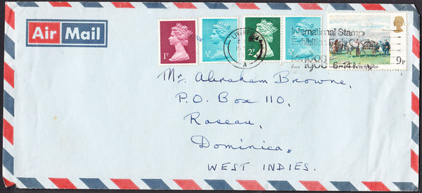92268 - 1979 MAIL LIVERPOOL TO DOMINICA, WEST INDIES. Large envelope (210x95) Liver...