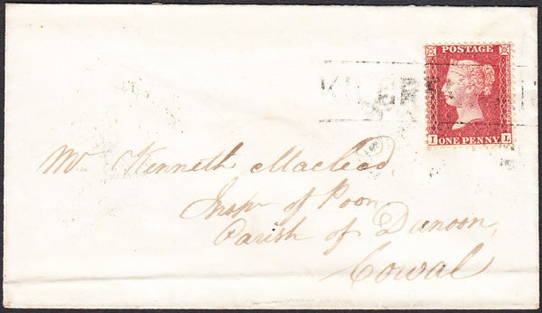 92453 - 'KILCRENNAN' TYPE III SCOTS LOCAL ON COVER(CO. ARGYLL PARENT POST OFFICE INVERARY)/PL.37 (IL...
