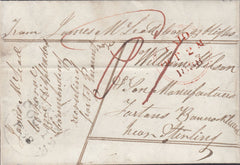 93062 - 1838 SOLDIER'S CONCESSIONARY RATE MONTROSE TO STIRLING. Fine letter Montrose...