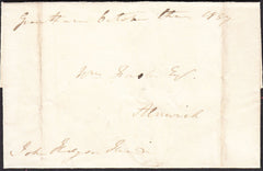 93068 - LINCS. 1837 wrapper sent free mail Grantham to Aln...