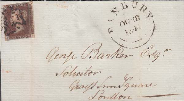 93527 - BANBURY MALTESE CROSS/PL.15 (JL)(SG8). 1841 wrappe...