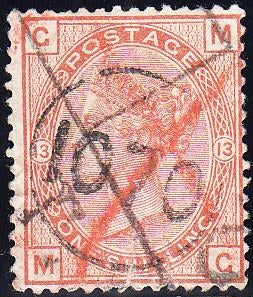 "93562 - TELEGRAPH ""1070"" CANCELLATION. Used 1881 1s orange..."
