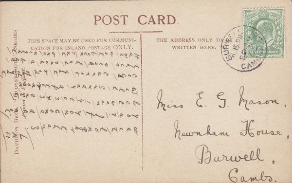 93861 - CAMBS. 1905 glamour post card of Zena Dare used lo...