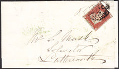 94189 - PL.189 (JC)(SG17) ON COVER. 1854 letter Rugby to L...