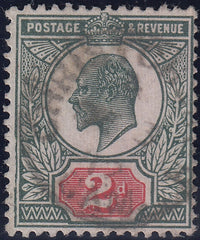 94220 - 1911 2d (SG292), fine used showing fine constant v...