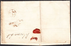 94824 - HAVERFORD/WEST TWO LINE HAND STAMP/QUEEN ANNES BOUNTY.  Undated wrapper Haverfordwest to Lo...