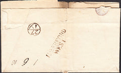 94825 - HAVERFORD/WEST TWO LINE HAND STAMP (W1034). PEMBROKESHIRE. Undated wrapper (small part missing...