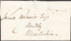 94941 - WARKS/'ATHERSTONE 108' MILEAGE MARK (WA14). Undated wrapper Atherstone to Bewdley with ...