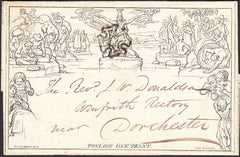 95261 - 1841 1D MULREADY WRAPPER FROM LONDON TO DORCHESTER, STEREO A1.