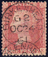 95717 - PL.36 (JE)(SG40). A very fine used 1857 die 2 1d p...
