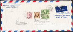 95906 - 1948 large envelope (241 x 106mm) London to Atlant...