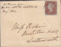 95980 - 1842 LEICESTER M.C/PL.23(SG8)(RF). Wrapper Leicester to Lutterwor...