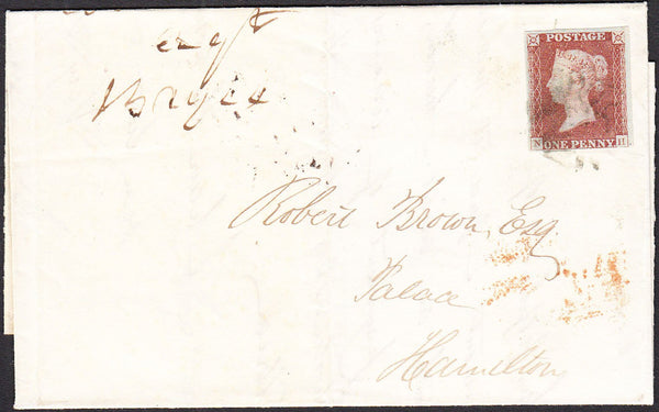 96037 - 1841 1D RED PL.1B (NH)(SG7) USED ON COVER. Letter ...