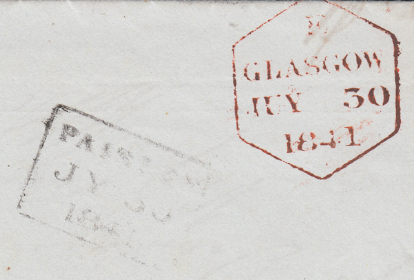 96050 - PL.10 (AH) IN RED (SG7) ON COVER. 1841 wrapper from the Bank of Sco...