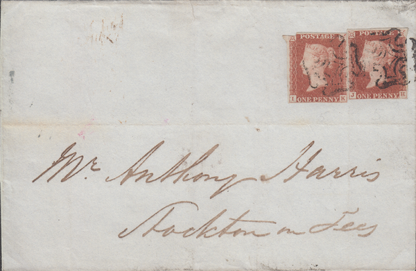96063 - PL.5 (IK JH) IN RED (SG7) ON COVER. 1841 wrapper L...