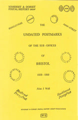 96199 - THE UNDATED POSTMARKS OF THE SUB-OFFICES OF BRISTO...