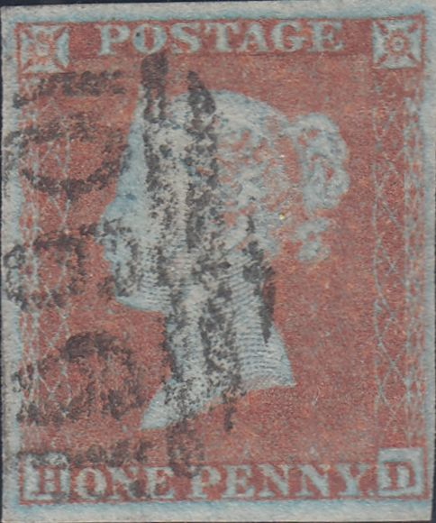 96289 - PL.133 (HD)(SG8). Good used 1852 1d pl.133 (SG8) lettere...