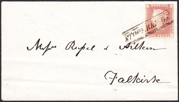 96310 - PL.48 (ND)(SG40) ON COVER. 1858 envelope Edinburgh to Falki...
