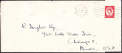 96402 - ROYALTY. 1957 envelope (220 x 95) Windsor to Chica...
