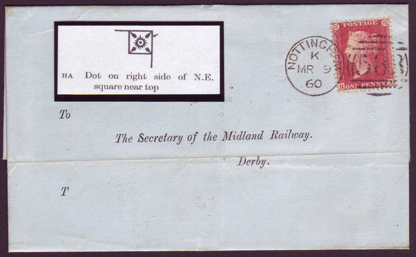96497 - PL.49 (HA)(SG40) ON COVER. Envelope Nottingham to Derb...