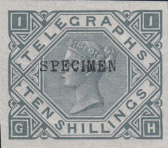 96537 - 1877 10s Telegraph. A very fine og example lettere...