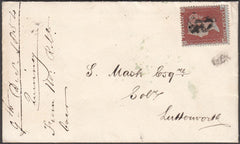 96903 - PL.196 (RJ)(SG17) ON COVER. 1854 envelope with let...