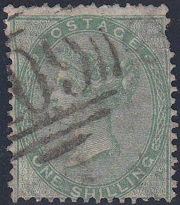 "97099 - 1856 1S GREEN (SG72) CANCELLED ""409"" OF JERSEY. Us..."