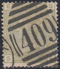 "97101 - 1877 4D SAGE GREEN PL.16 (SG153) CANCELLED ""409"" O..."