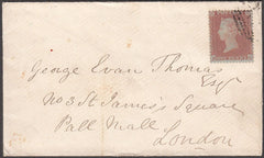 97185 - RES.PL.6 (RC) PERF 14 (SG22) ON COVER. 1855 envelo...