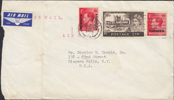 97403 - 1960?MAIL LIVERPOOL TO USA/KEDVIII 1D (SG458). Envelope Liverpool to New York, opened rough...